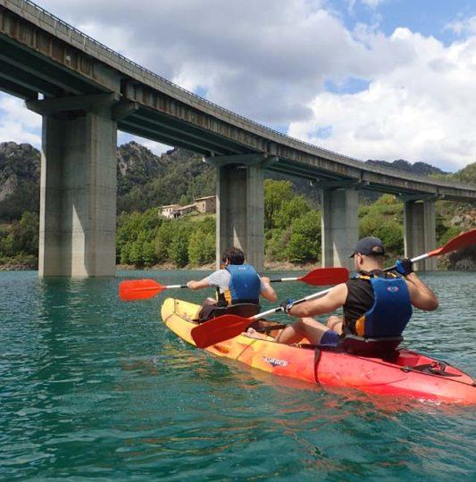 kayak a la Llosa del Cavall
