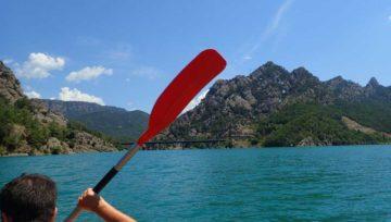 Kayak a la Llosa del Cavall, el Clot de Vilamala