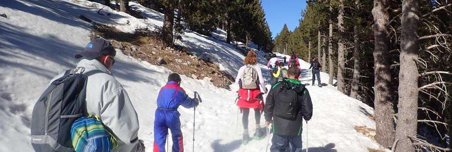 excursió raquetes de neu per nens Port del Comte