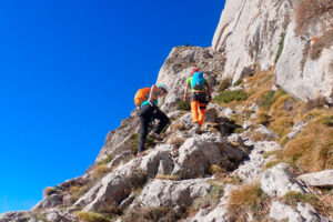 Entrant a la Gran Diagonal del Pedraforca