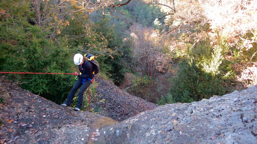 iniciació al descens de barrancs