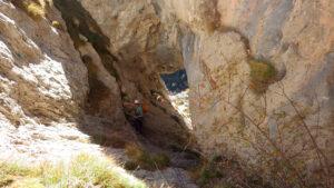 el pas de la Cova dels Talibans al Pedraforca