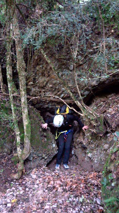 sortida del barranc de ca l'Esquitlla al Berguedà