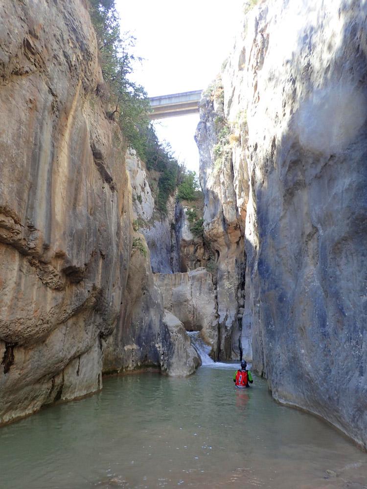 barranc amb aigua al Berguedà