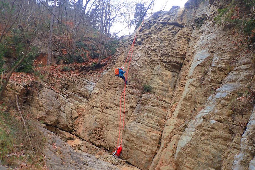 descens de grans verticals Berguedà