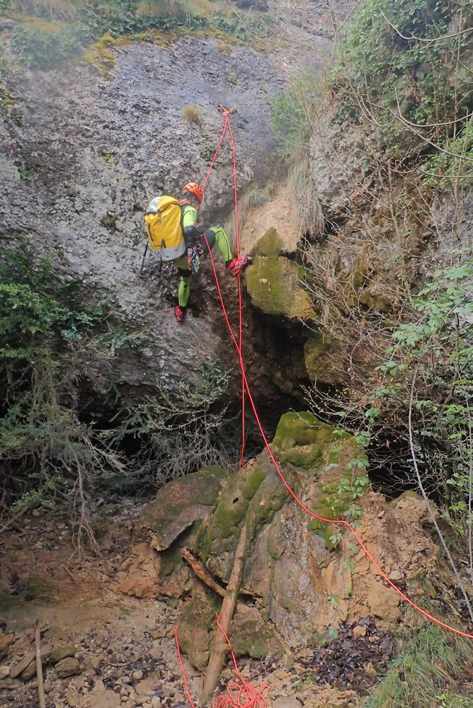 afluent oest del salt del Mal Pas Malpàs Espunyola Capolat Travil Barranquisme Berguedà