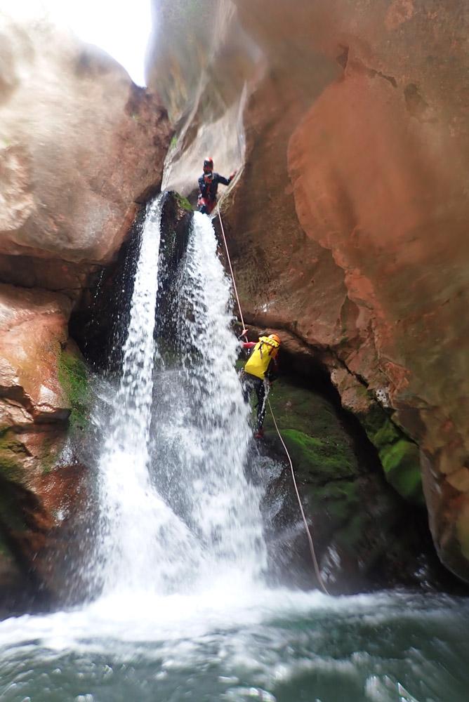 descens de canyons i engorjats al Berguedà