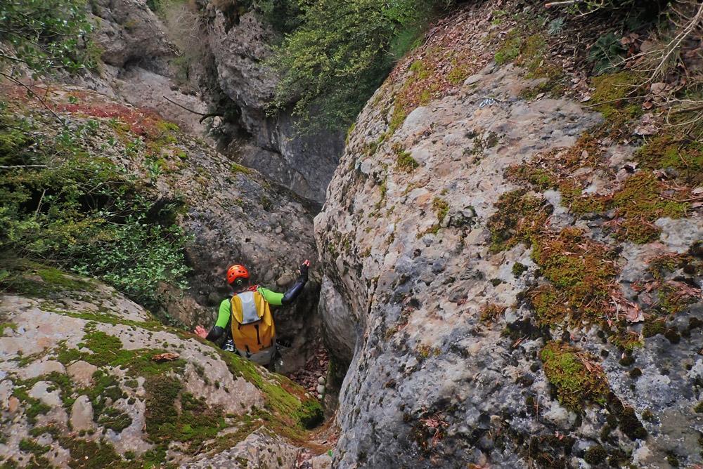 inici descens barranc Tresserra