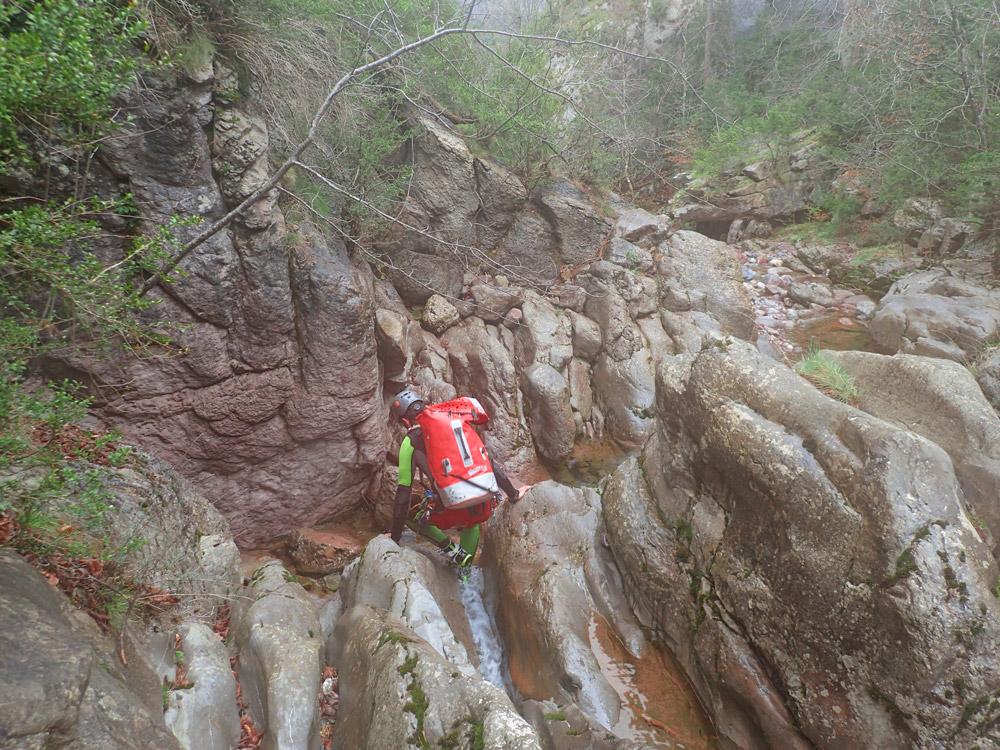 torrent de l'Arija barranquisme Berguedà