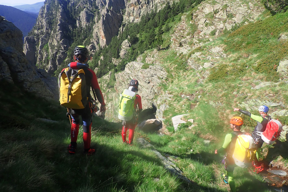 entrant al barranc del torrent de la coma de Gispete al Ripollès, vall del Freser